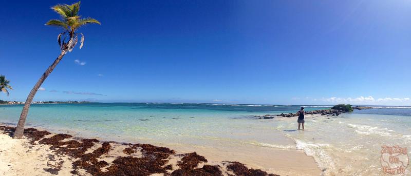 Panorama beach La Caravelle, Guadeloupe