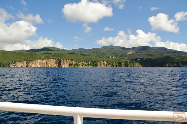Basse Terre Coastline from boat 2
