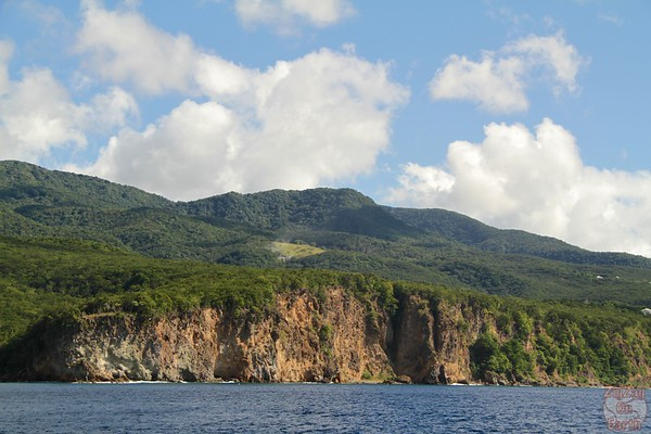 Basse Terre Coastline from boat 3