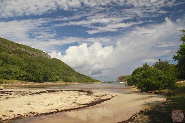 beach lagoon Porte Enfer, Guadeloupe
