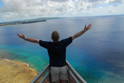 Me overlooking the Tumon Bay from Two Lovers Point.