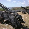 Canons at Spanish era Fort Soledad overlooking the Umatac Bay in Guam Island.