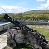 Canon at Spanish era Fort Soledad overlooking the Umatac Bay in Guam Island.