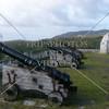 Canons at Spanish era Fort Soledad overlooking the Umatac Bay in Guam Island.