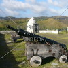 Canon at Spanish era Fort Soledad overlooking the Umatac Bay in Guam Island.