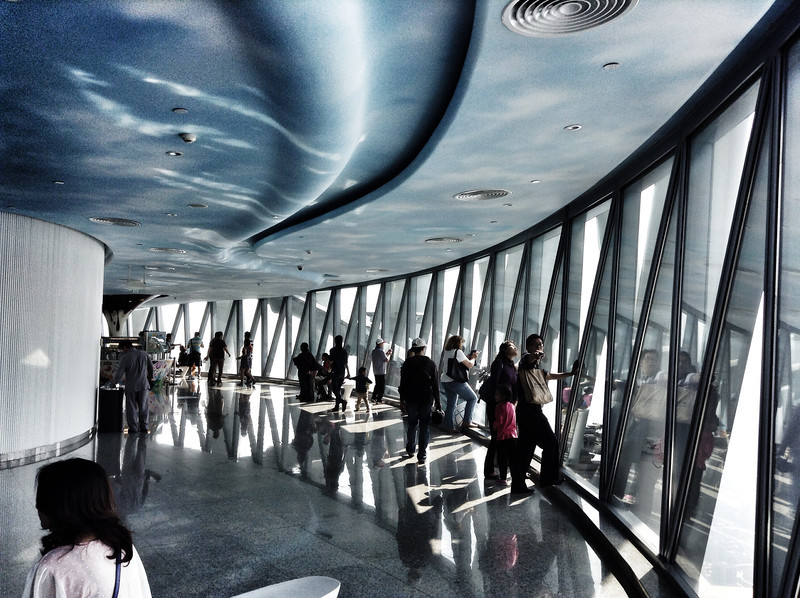 Observation deck of the Canton Tower.