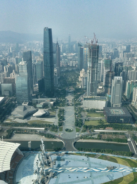 The IFC building. Seventh tallest building in the world at 1439 feet.