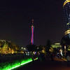 Canton Tower and it's ever-changing lights withe the IFC building on the right.