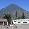 San Pedro volcano from Santiago Atitlan Church