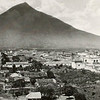 Antigua and Volcano Agua from Cerro de la Cruz in 1875 (Muybridge).