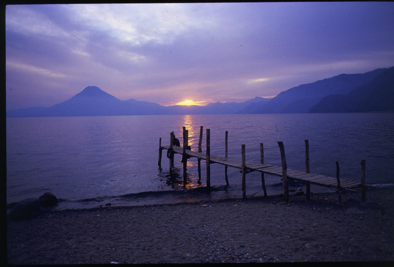 Lake Atitlan, Guatemala. Sunrise.