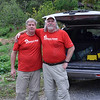 Señor Queso y Señor Jamon arriving in Secampana