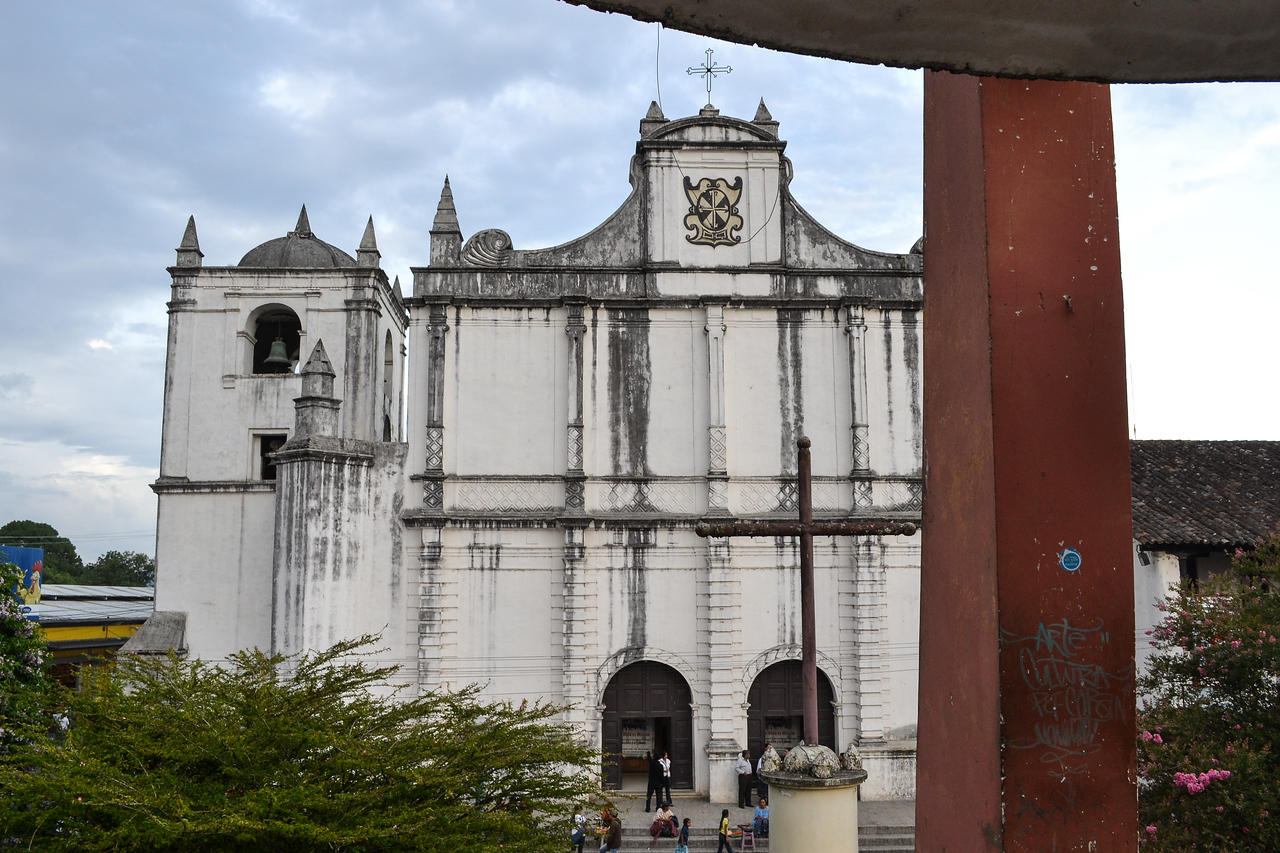 The Church in Coban from the city square