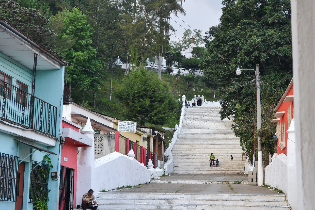 Stair to another church in Coban (Templo El Calvario)