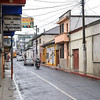 Street in front of our Hotel in Coban