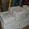 two concrete pieces next