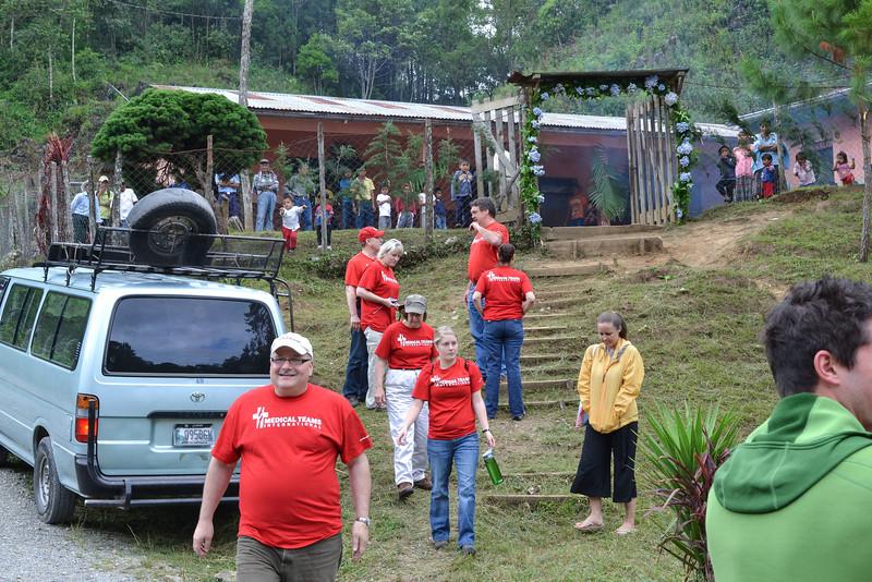 The Team's arrival in Secampana