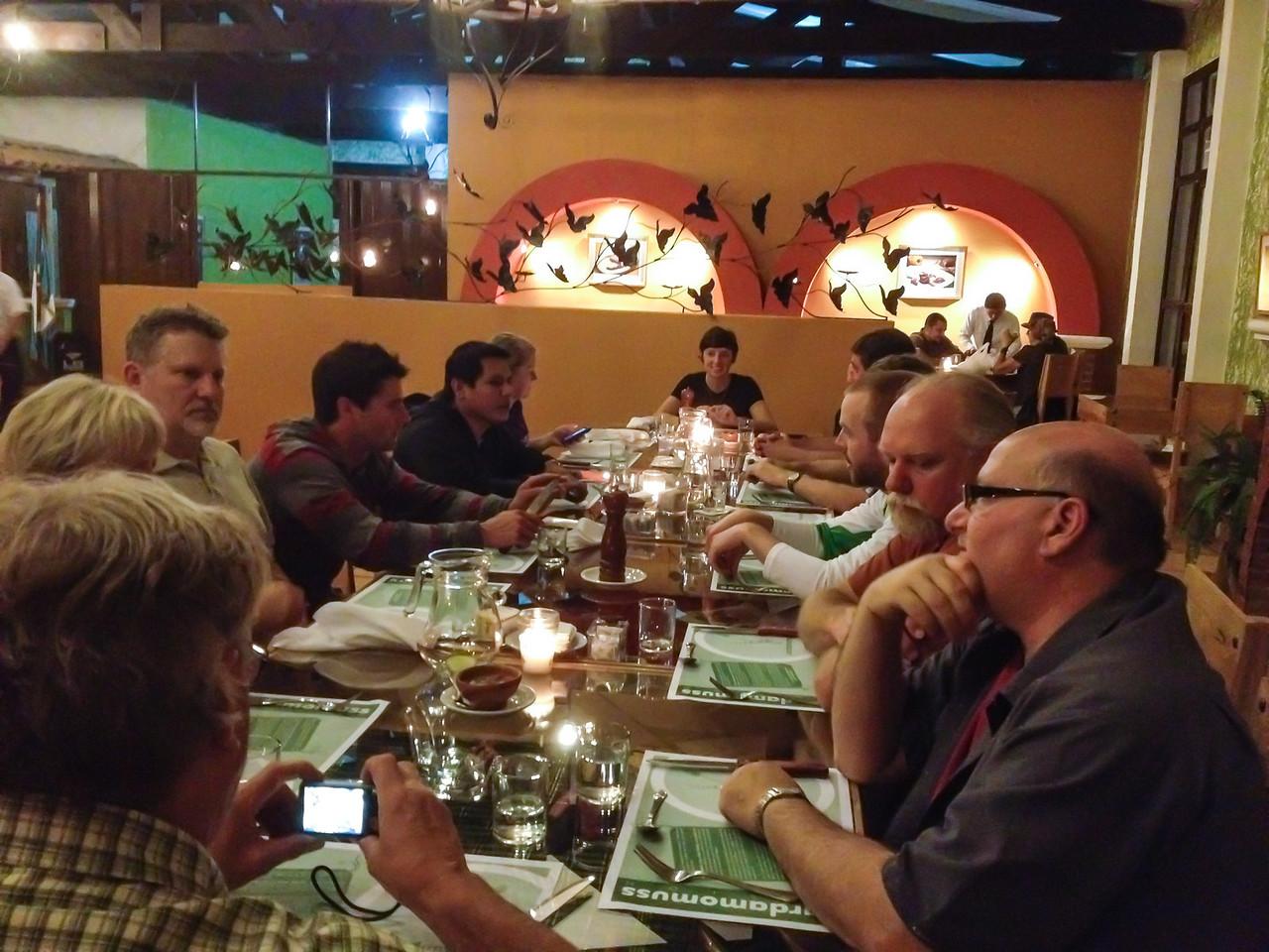 Dinner at the Kardamuss Restaurant in Coban