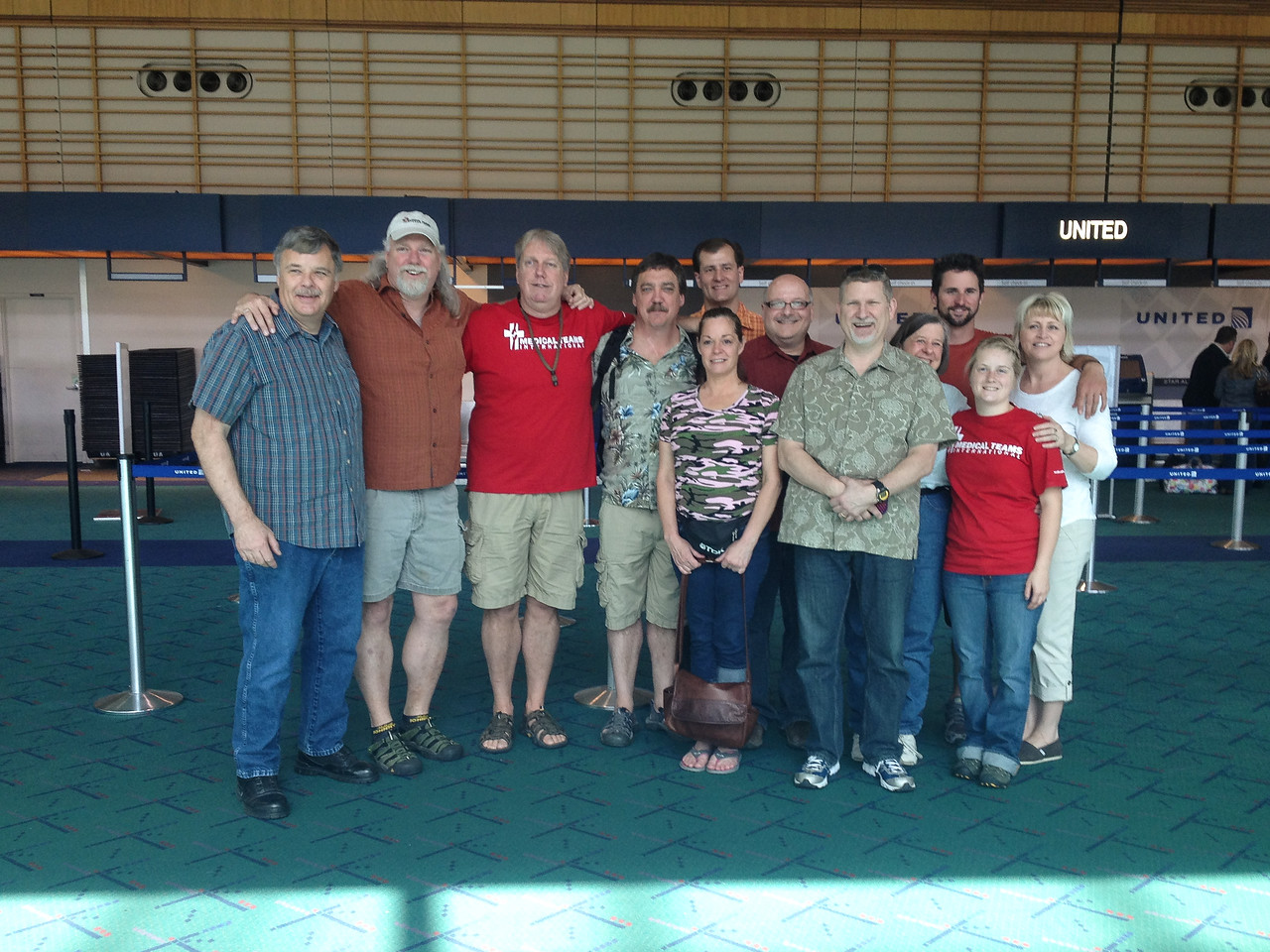 About to leave PDX on 12 May, 2012. L-R: Dennis Johnson, Dave Volke, Jim Volke, Dave Curtis, Kim Curtis, Me, Joe DiCarlo, John Tarylor, Janet Buzell, Mike Shipley, Leanne Martindale, and Judy Taylor.