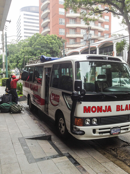 Loading our bus for the 5 hour ride north to Coban.