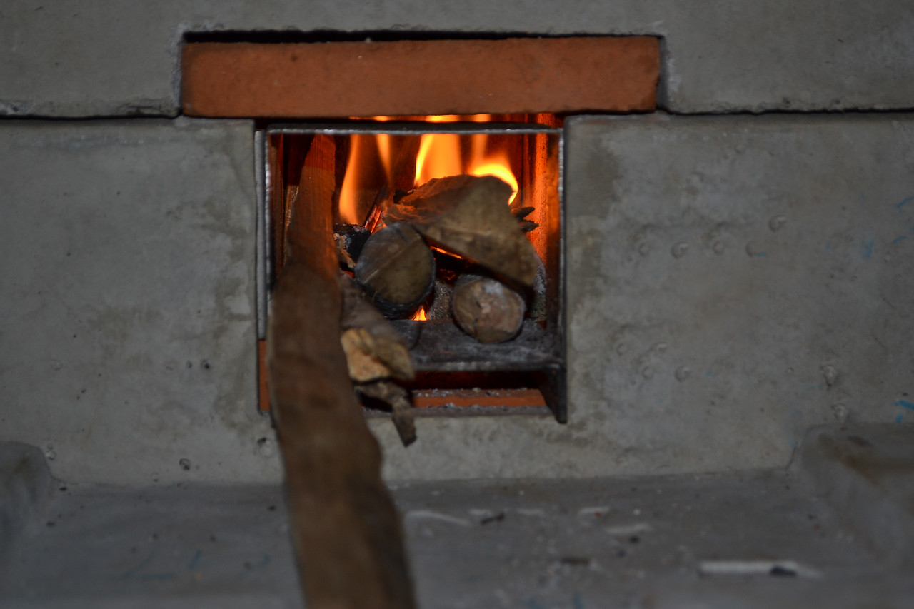 Lastly, we light the fire and explained how to use and maintain the stove