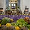 "Iglesia La Merced.<br /> This is made of saw-dust tinted in different colors. The ""alfombra"" (carpet) is made during lent and it is changed every few days. Also, fruits and vegetebles are placed as offerings around it.<br />  Antigua, Guatemala"