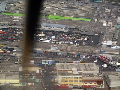 Aerial view of the bus terminal, Guatemela City