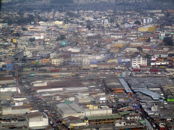 Guatemela City, Aerial view
