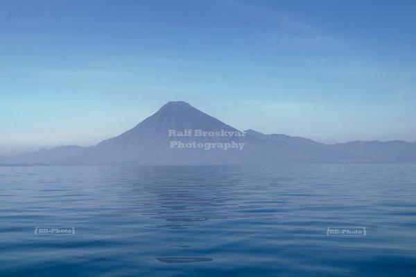 San Pedro volcano on Lake Atitlán, Guatemala