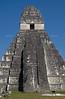 Great Jaguar Temple at the pre-Columbian Maya Site at Tikal National Park, Guatemala, a UNESCO World Heritage Site
