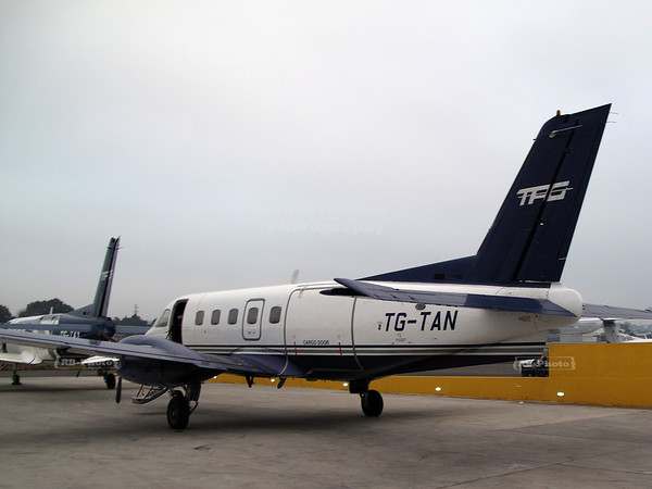 TAG (Transportes Aeros Guatemaltecos) propeller airplanes at the Guatemala City airport