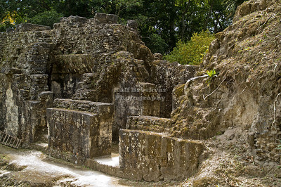 Inner court of Acanaladuras Palace or Group G Maya Site at Tikal National Park, Guatemala, a UNESCO World Heritage Site