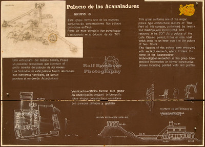 Areal map of the Acanaladuras Palace, Group G (Palacio de las Acanaladuras, Grupo G) at the Maya site in Tikal National Park, Guatemala