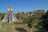 Great Jaguar Temple and North Acropolis as seen from Temple II<br /> Pre-Columbian Maya Site at Tikal National Park, Guatemala,<br /> a UNESCO World Heritage Site