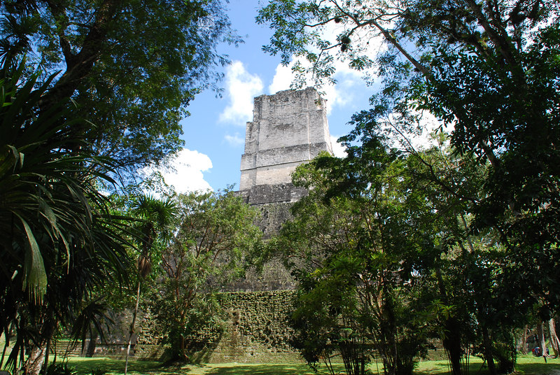 Approaching the back of a temple that is part of one of the centers of Tikal.
