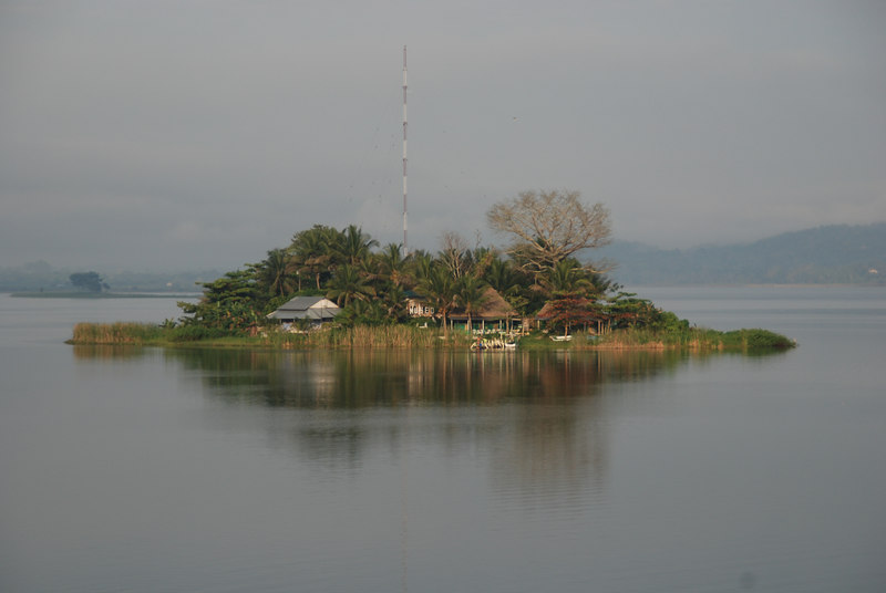View of small island from island of Flores, where we were staying and which is the popular jumping off point to see Tikal.