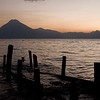 Sunset from Panajachel. Lake Atitlan