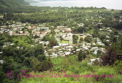 Panajachel, Guatemala.  The geometrical shape in the center is the missionary home/church/pastor's home/Bible school complex.