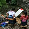 the traditional and the modern (note the woman on the left with the cell phone whilst they weave their traditional textiles)