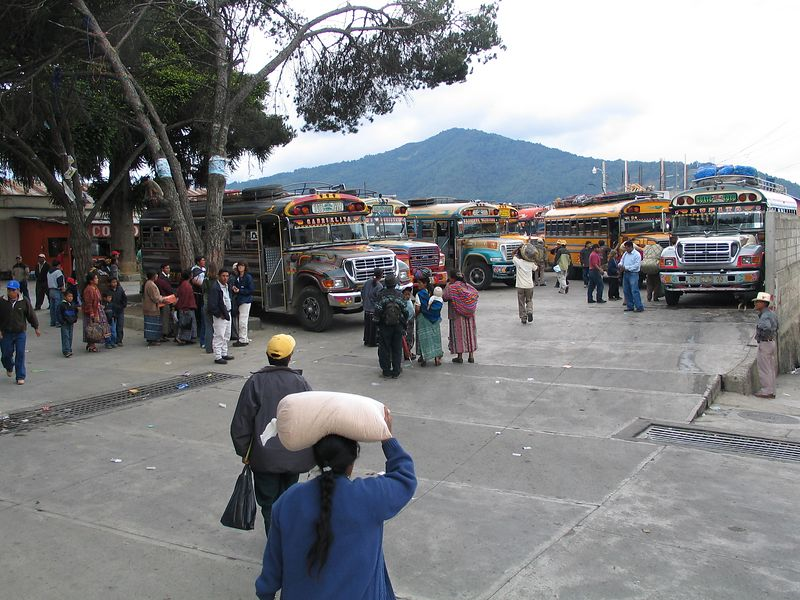The Chicken bus Station.