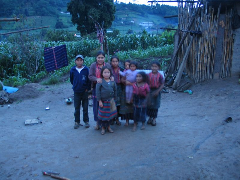 Another of the projects that ICA runs is for indigenous woman and familys in Solola.  I stayed with this family for a night and experienced a portion of what life is like for them.  The kids were fascinated with the digital camera.  Later,  I was able to take movies of the kids then replay them.  They liked that but usually they just stared at me.