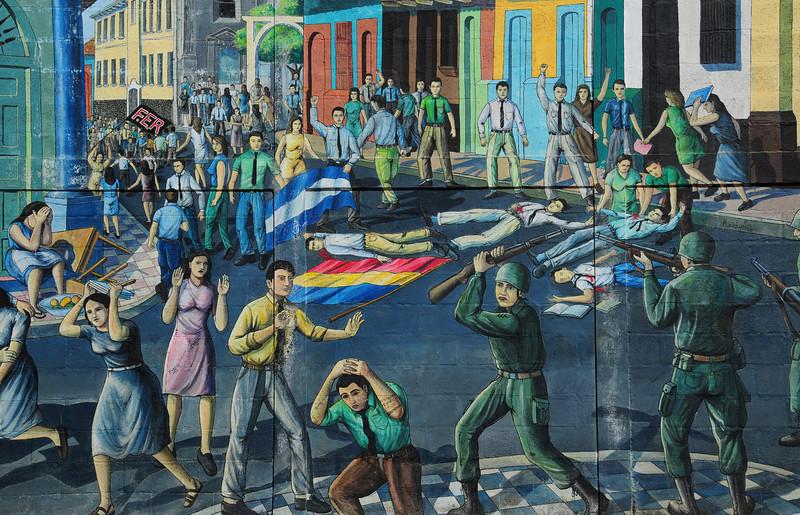 Civil War mural, Leon. Nicaragua