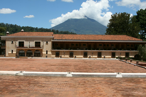 Finca Filadelfia with a volcano in the background