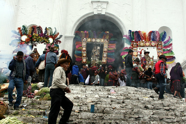 Chichicastenango, where the Mayan and Catholic faiths intermingle