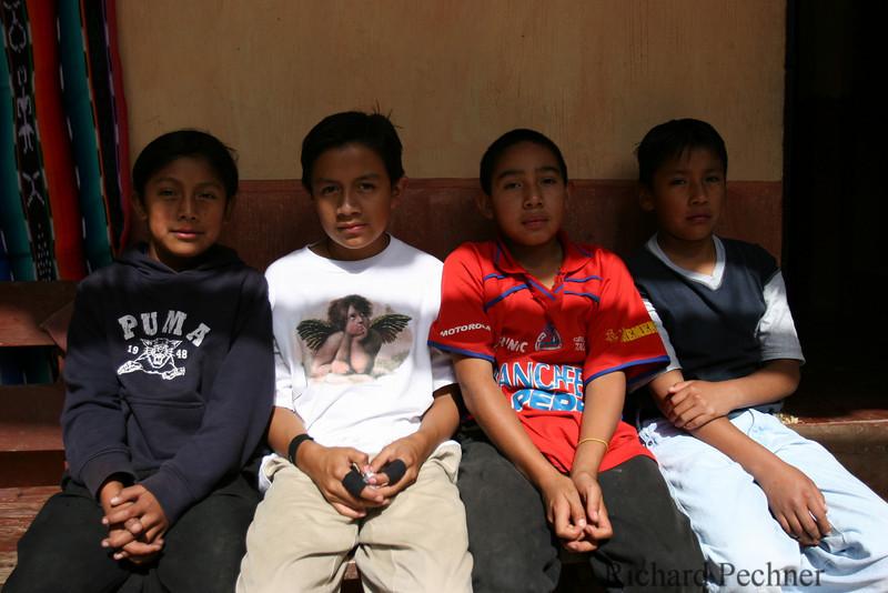 portrait of 4 boys