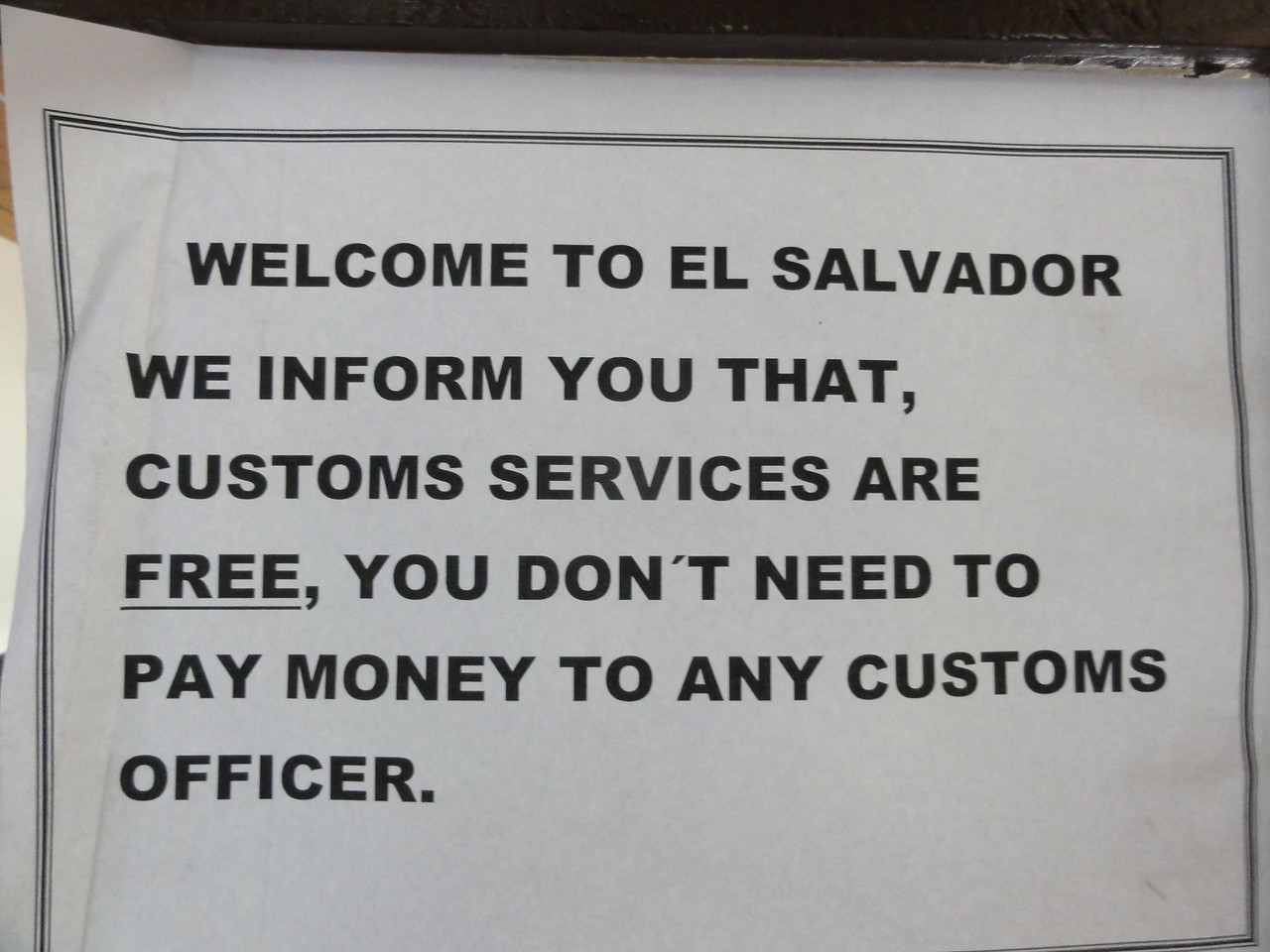 El Salvador Customs