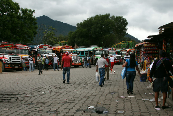"""Guatemala's famous """"chicken buses"""""""