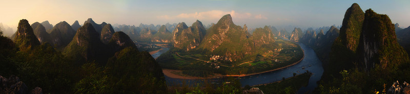 Li River and Karst's Panorama near Hebao Shan