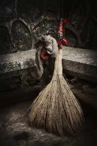 Local hand-made broom, Guilin, China