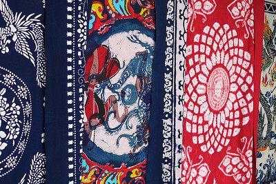 Colourful printed fabrics from Yunnan province